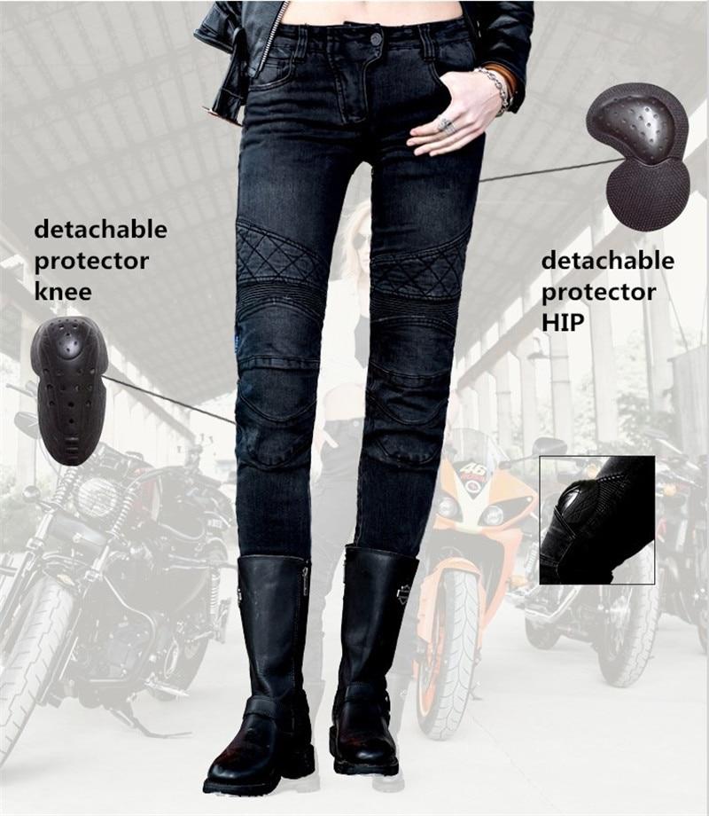 Livraison gratuite 2017 Uglybros Tuteur Ubp09 Droite jeans Moto de protection pantalon Femmes de moto pantalon Route pantalon d'équitation
