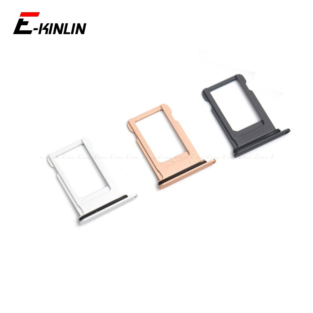 Sim Card Tray For IPhone 7 8 Plus Sim Holder Slot Replacement Parts