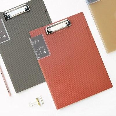 Simple Fashion Office Carpeta Clip A4 Report Clipboard File Folder PP Plastic Clip Board Folder