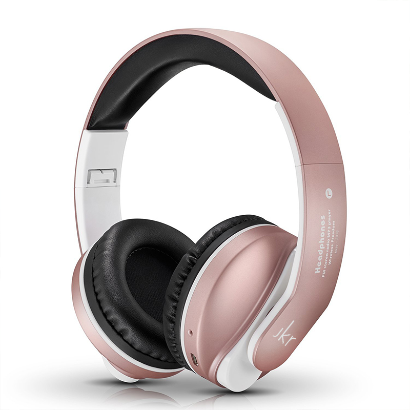 JKR-218B Foldable Headphones Bluetooth Stereo Bass Wireless Headphone Headset With Mic MP3 FM Radio Earphone For Xiaomi Iphone new wireless headphones stereo bluetooth headset card mp3 player earphone fm radio music for music wireless headphone