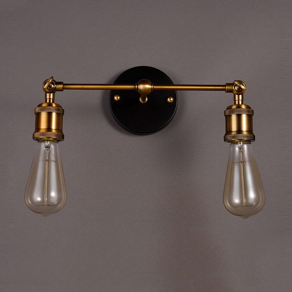 retro vintage design iron wall light Antique wall lamps industrial lighting luminaire Edison bulb E27 E26 plated Loft AC цена 2016