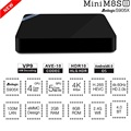 Mini m8s ii s905x amlogic caja de la tv mini pc android 6.0 64bit VP9 Decodificación 2 GB DDR3 8 GB de máster erasmus mundus BT 4.0 2.4 GHz WiFi Medios Kodi jugador