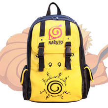 Anime NARUTO Kuramakyuubi Uzumaki Backpack Leather Satchel Schoolbag Book Bag Laptop Bags Student Boys Large Knapsack Purse Gift(China)