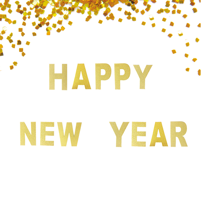 happy new year gold glitter banner custom options available new years eve party decor