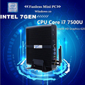 I7 7500U Безвентиляторный Mini PC Intel HD Graphics 620 Windows 10 300 М Wi-Fi Кабы Озеро Архитектуры Компьютера 3-летняя гарантия