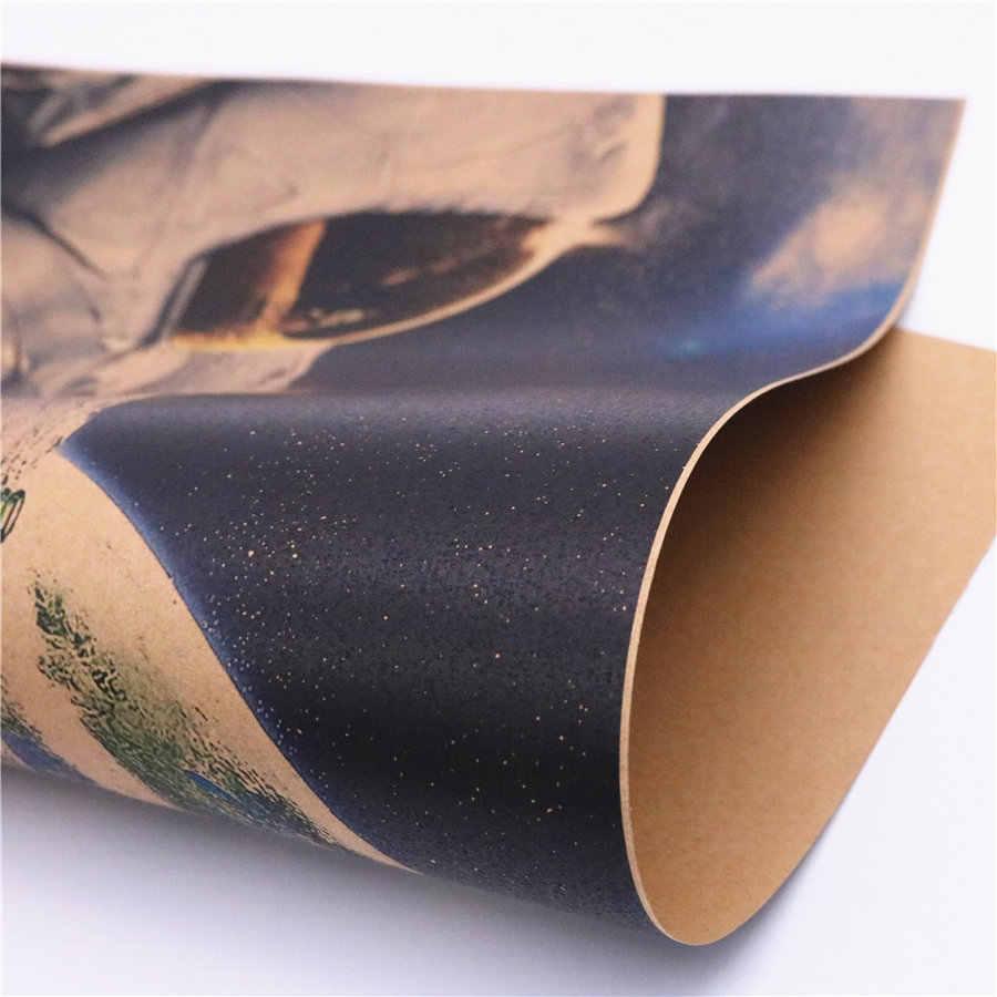Винтажное космическое пространство, земля, космонавты, напиток, расслабляющая луна, земля, плакат на крафт-бумаге, стикер на стену, печать, живопись 42x30 см FRD020