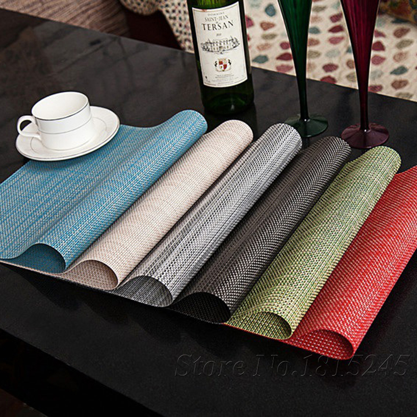 PVC Dining Room Placemats For Table Heat Insulation Stain
