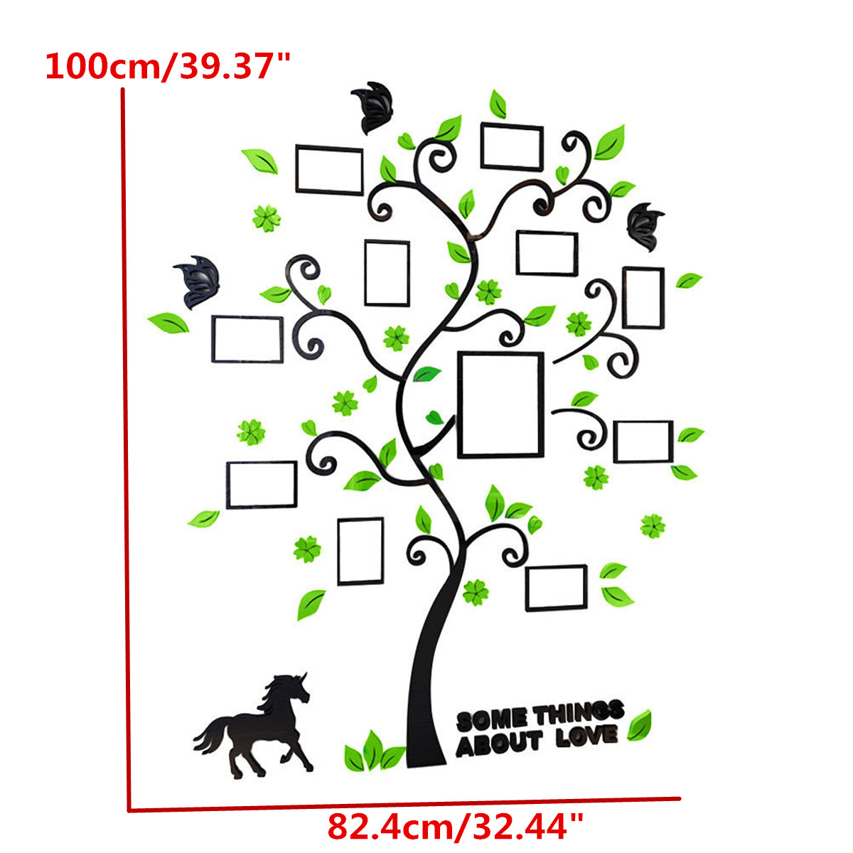 Acrylic 3D Family Photo Frame Tree Wall Stickers Removable DIY Art Wall Poster Decals Poster For Living Room Bedroom Home Decor 2