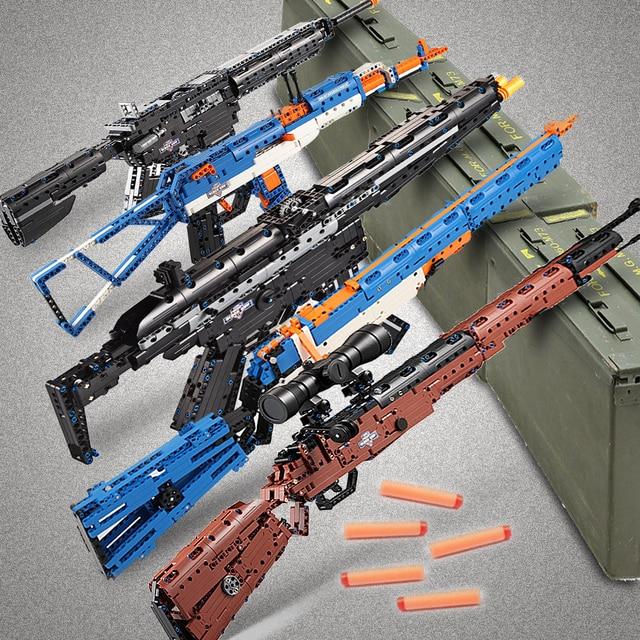 cada building blocks technic gun toy models & building toy gun model 98k bricks educational toys for children ww2 toys for kids