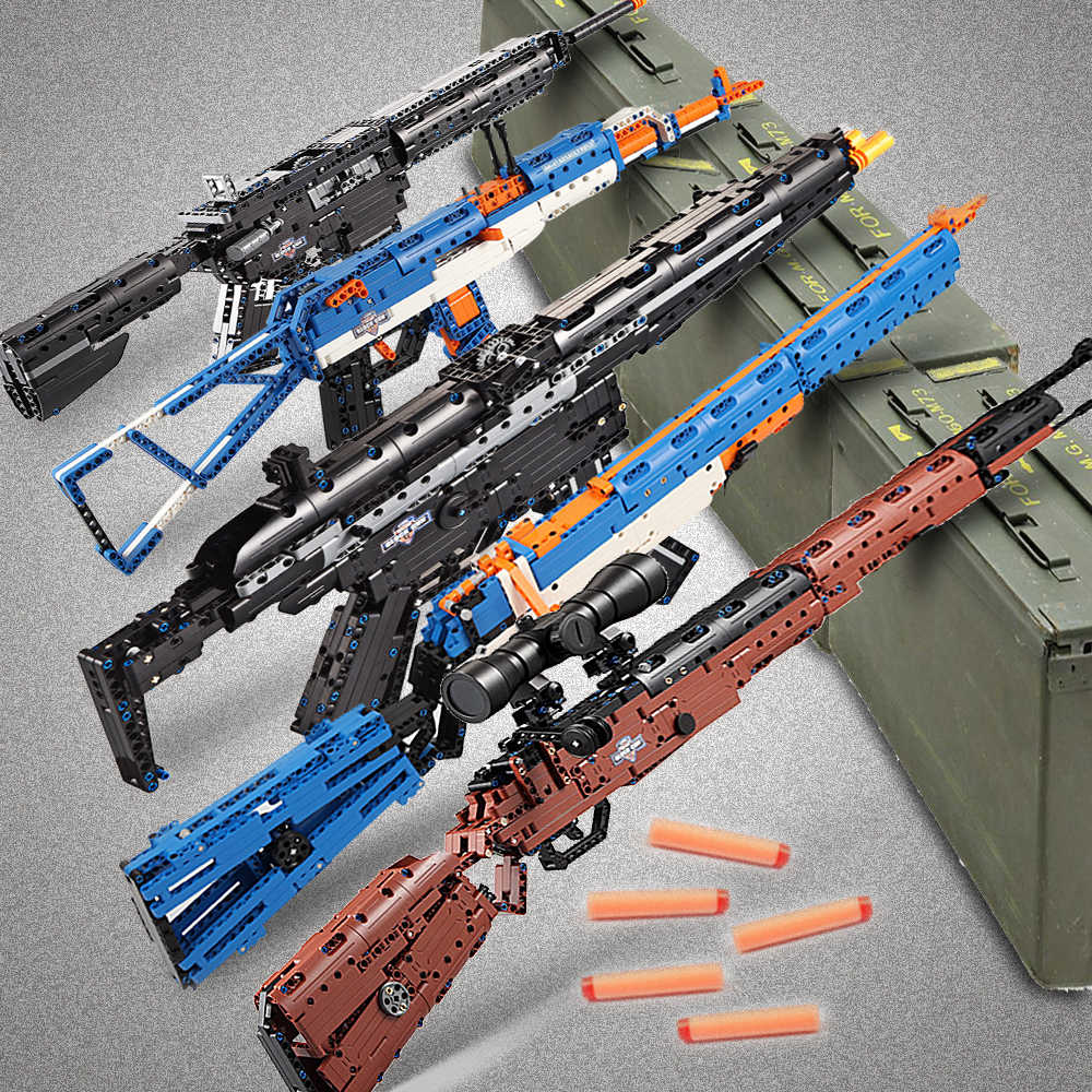 cada building blocks technic gun toy models & building toy gun model 98k bricks educational toys for children ww2 toys for kids