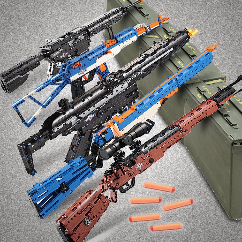cada building blocks technic gun toy models & building toy gun model 98k bricks educational toys for children ww2 toys for kids-in Model Building Kits from Toys & Hobbies