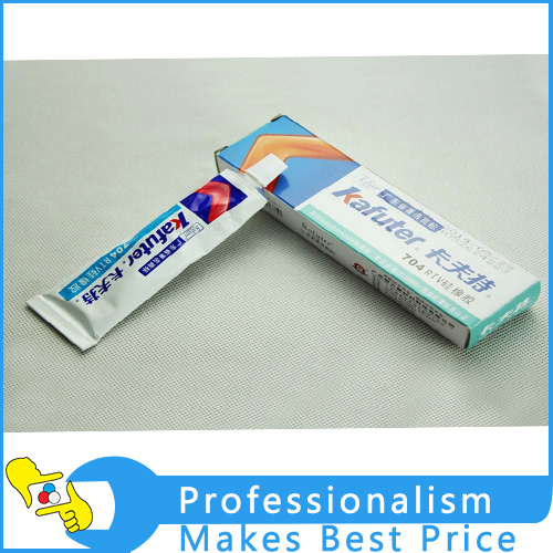 2pcs Retail / Wholesale High Quality Kafuter 704 RTV Silicone Electronic Sealant Organic Silicone Adhesive Glue