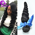 Grade 7A Peruvian Loose Wave Virgin Hair One Bundle Unprocessed Peruvian Human Hair Bundles Peruvian Virgin Hair Loose Wave