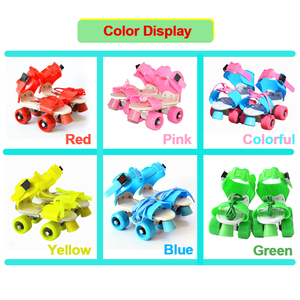 Image 4 - Children Two Lines Roller Skates Double Row 4 Wheel Skating Shoes Adjustable Size Sliding Inline Patines En Linea KidsGift IB02