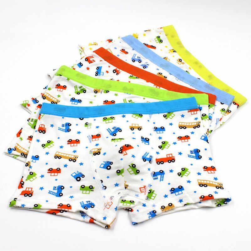 5pcs/lot boys boxer kids underwear Boy Underpants Boxer Modal Soft Children Underwear 2-10years