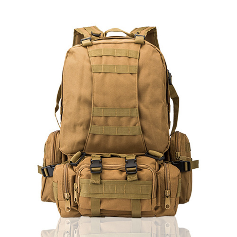 40-60L Military Tactical Assault Pack Backpack Army Waterproof Bug Out Bag Small Rucksack for Outdoor Hiking Camping Hunting nylon tactical military backpack rucksack bags assault pack daypack waterproof hiking camping outdoor sport travel trekking bag