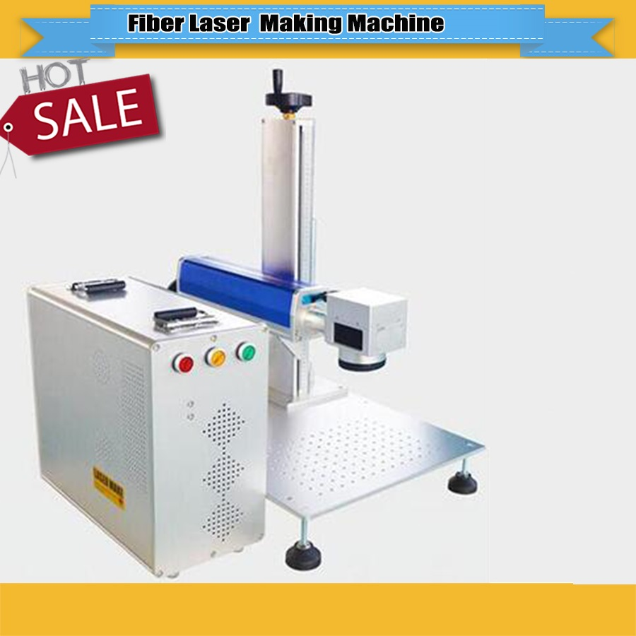 Factory Price 20W/30W  Fiber Laser Marking Machine With Raycus, IPG Laser Brand Optional For Metal Wood Pvc Plastic Marking