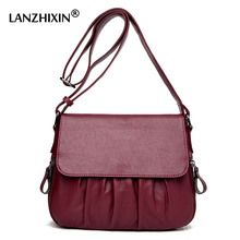 Lanzhixin Designer Middle-aged Ladies Mother Tote Bag Women Leather Retro Bags Vintage Crossbody Bags Women Messenger Bags 1001S