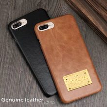 LoveCase 7 8 Plus case retro genuine leather phone back cover for iphone 6s 7 8 Plus top quality Luxury Matte Skin cases and box