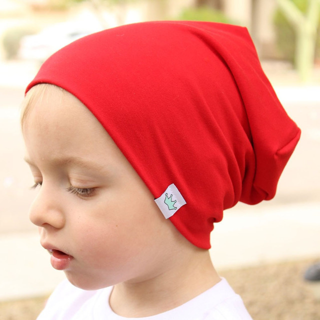 Newborn Baby Children Autumn Winter Warm Earmuff Colorful Crown Caps Skullies