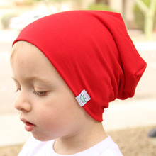 Fashion Cute Solid Knitted Cotton Hats For Newborn Baby Children Autumn Winter Warm Earmuffs Colorful Caps Skullies