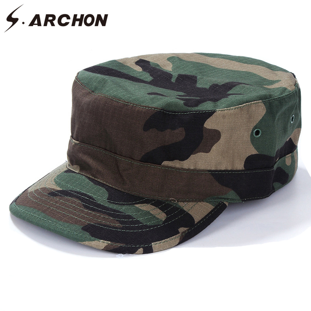 d1274da2d87d1f S.ARCHON US Army Camouflage Military Sailor Hats For Men Soldier Sniper  Combat Tactical Caps Unisex Paintball Airsoft Camo Hats