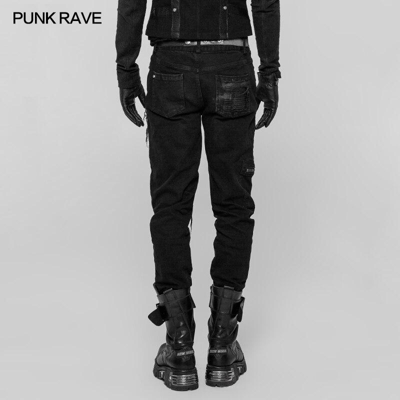2019 Rave Punk Rock gótico Decadent personalidad Patchwork calle estilo moda hombres Pantalones WK339-in Pantalones casuales from Ropa de hombre    2