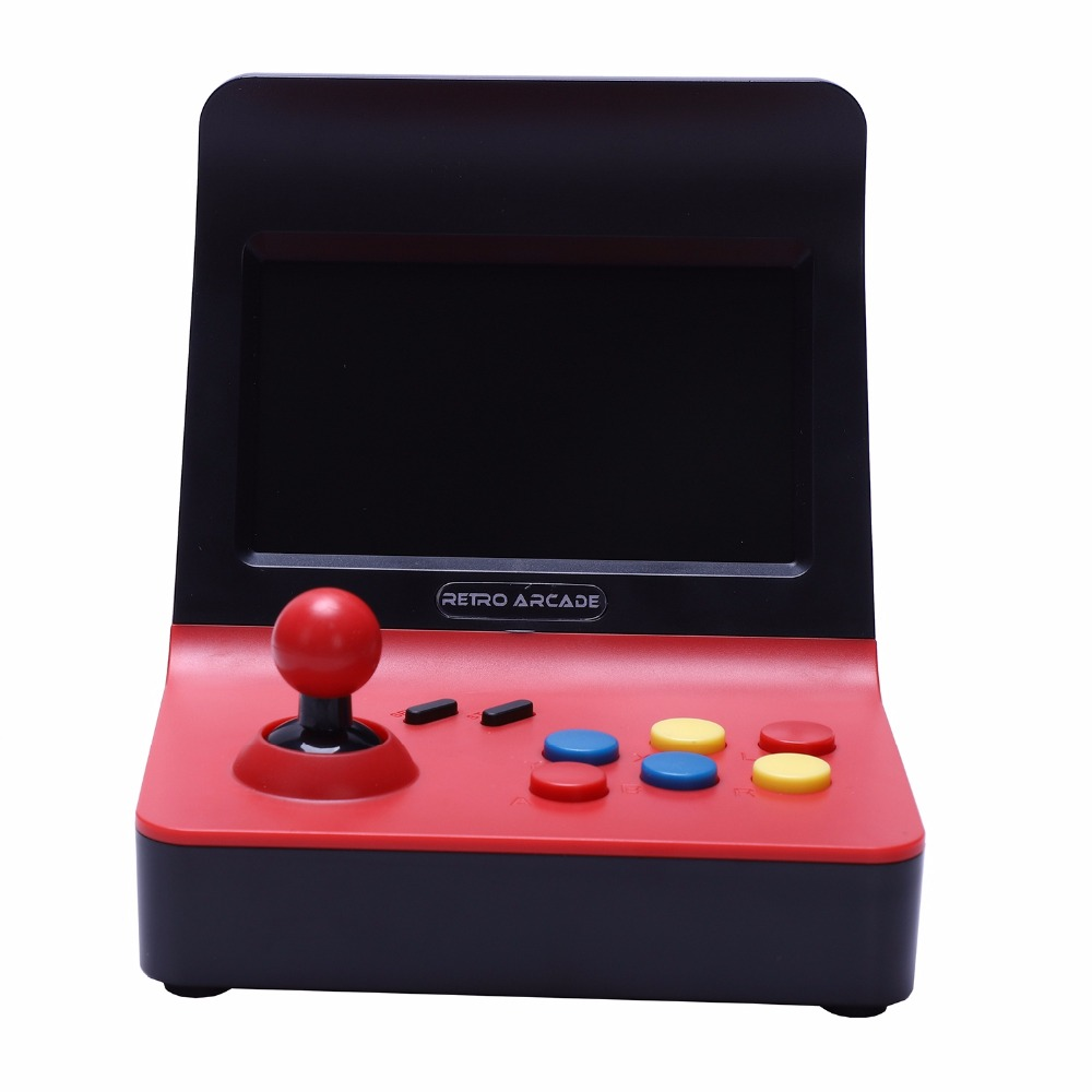 Meilleures offres Powkiddy A8 Console d'arcade rétro Console de jeu joueur de jeu Machine 3000 jeux classiques manette contrôle AV Out 4.3 - 5