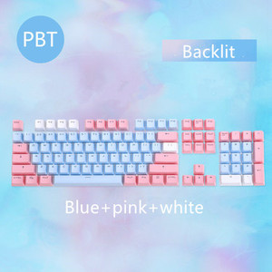 Image 5 - 104 Keys/set PBT keycaps Double shot Mechanical Keyboard Backlit Key Caps Pink Blue White For Ajazz AK35I And Other MX Switch