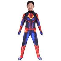 2019 Captain Marvel girls Jumpsuits leotard child straitjacket anime cosplay Marvel Comics halloween costume for kids women