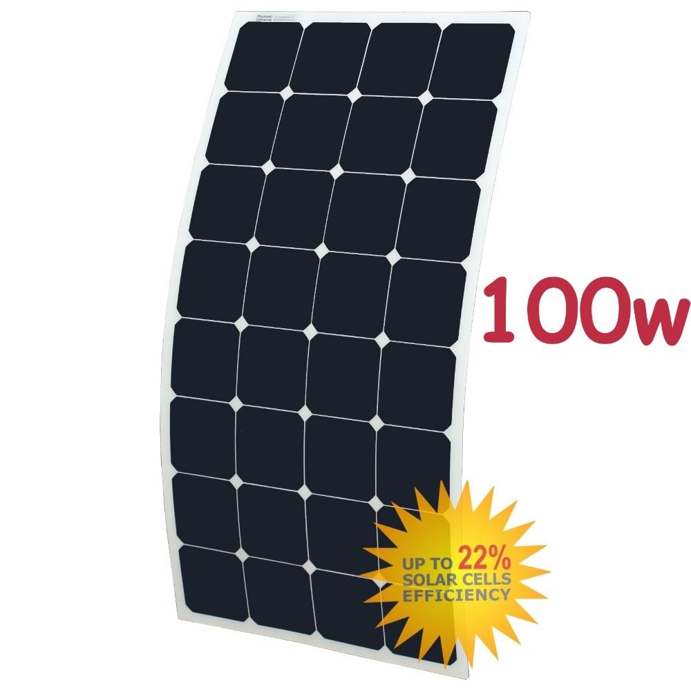 100w 2pcs 12v flexible solar panel generator caravan camping power mono charging kit in solar [ 1000 x 1000 Pixel ]