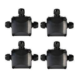 Skrzynka przyłączeniowa IP68 wodoodporna 3 sposób Złączki kablowe na świeżym powietrzu/zewnętrzny elektryczna skrzynka przyłączeniowa 5.5mm 10.2mm zestaw 4 w Złącza od Lampy i oświetlenie na