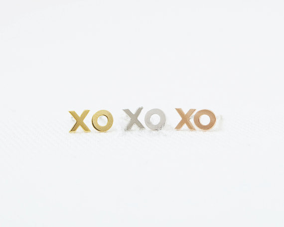 Fashion Xo Stud Earrings Gold Color Silver Plated For Women Whole Free Shipping In From Jewelry Accessories On