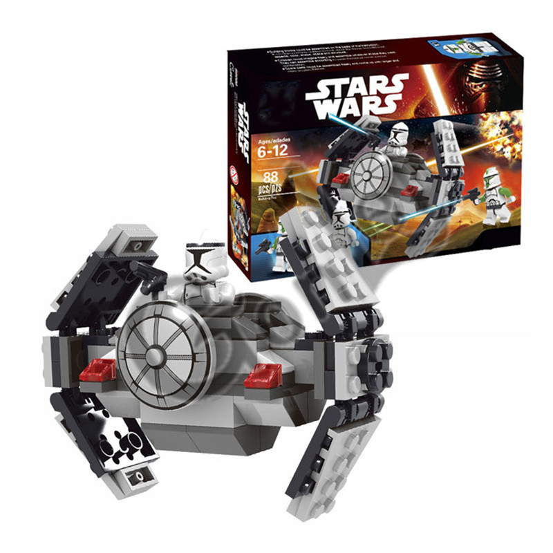 Star Space Wars Microfighters Loging Building Blocks Sets Clone Micro TIE Fighter Bricks Toys Compatible Starwars 2018 NEW