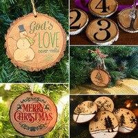 Doğa Boş Ahşap Yonga Cilalı Boyama Baz El Yapımı Zanaat Düğün Ev Bahçe Noel Dekorasyon DIY Aksesuarları