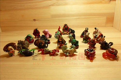 figure doll  ornament  hundred  of  ghost  at  night  25pcs/set colorful  set morais r the hundred foot journey