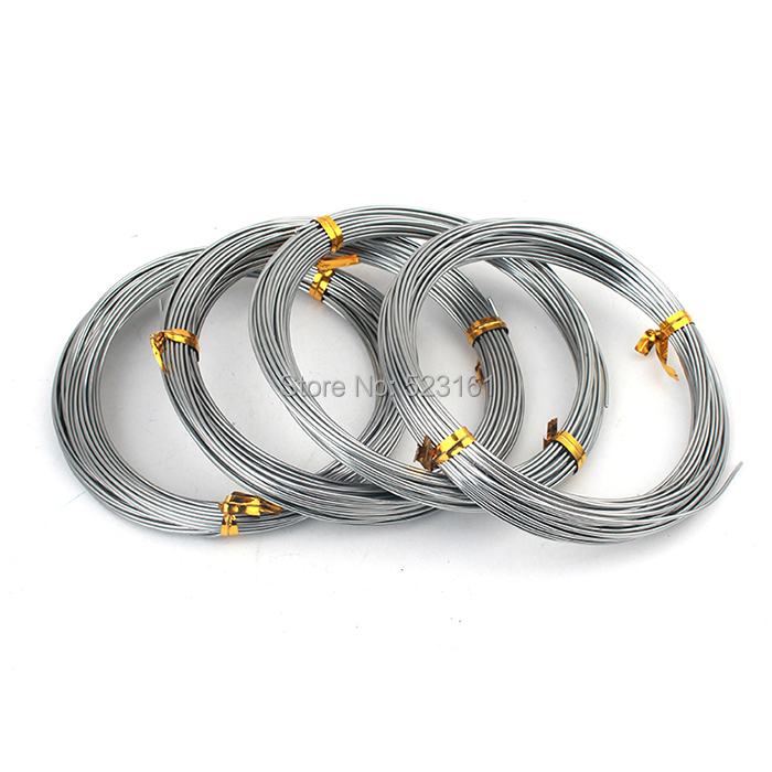 1mm Silver Gray Colored Aluminum Jewelry Craft Soft Wire Coil 10m ...