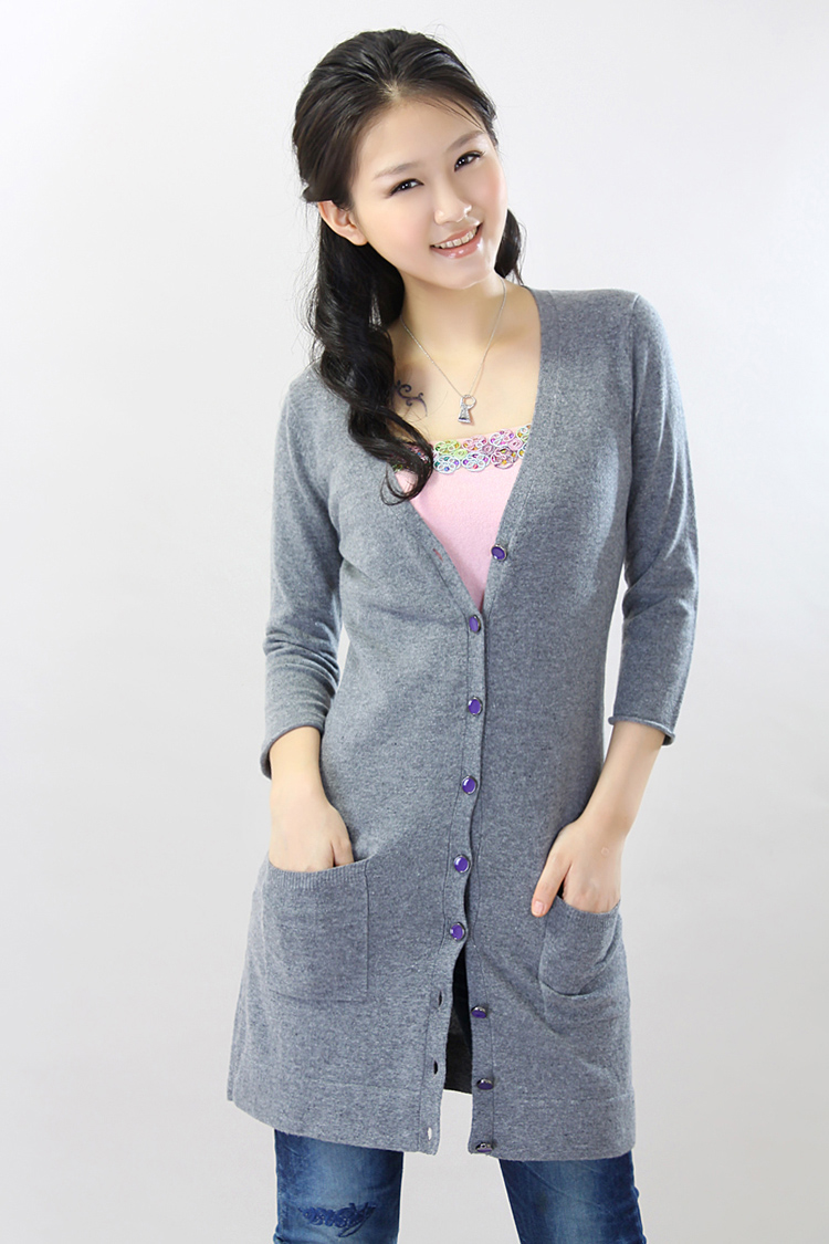 Buy purple cashmere cardigan and get free shipping on AliExpress.com