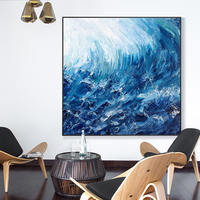 Fashion Art Modern Canvas wave painting Home Decoration seascape Pictures Painting 100% Handpainted Christmas Gift Oil Painting