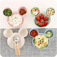 купить Carrywon Plate Children Kids Cute Cartoon Mouse Bowl Dishes Baby Feeding Bowl Dinner Lunch Food Container Lunch BoxCamping недорого
