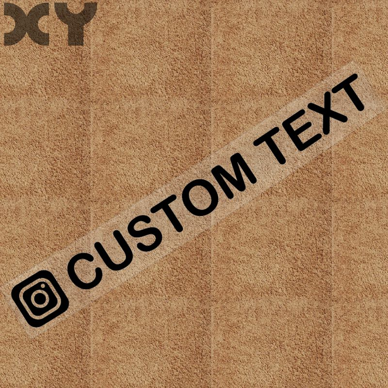 Image 5 - XY Personalized Custom Instagram Username Waterproof Car and Motorcycle Sticker Bumper Sticker Drop Shipping-in Car Stickers from Automobiles & Motorcycles
