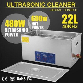 Sistema de cesta 22L 8 Sets transductor 1080W limpiador ultrasónico digital de Metal