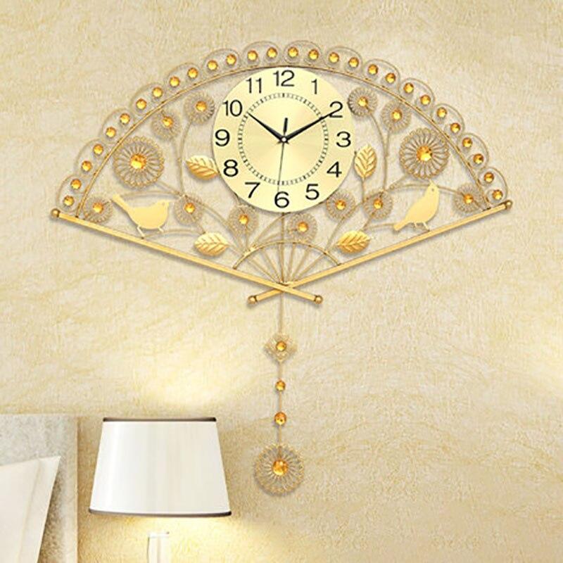 Fashion Art Wall Clock Modern Design Wall Watches Home Decor Hanging Pendulum Clocks Wall Metal Decoration Wall Clocks