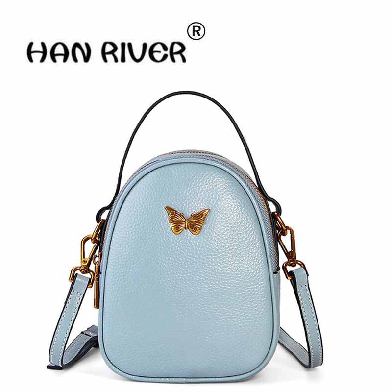 The new leather handbag of the new leather bag is in the style of the top layer of leather mini bag with a small bag famous brand top leather handbag bag 2018 new big bag shoulder messenger bag the first layer of leather hand bag
