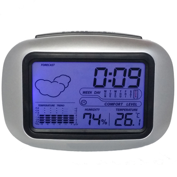 Digital Table Desktop Snooze Alarm Clock with Temperature Thermometer Humidity Hygrometer Home Weather Station настольная лампа st luce sle301 504 01