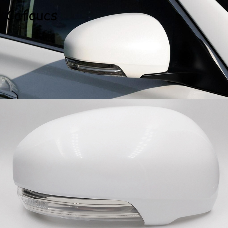 Cafoucs Car Rearview Mirror Cover And Turn Signal Light For Toyota Reiz Prius 2010 2011 2012