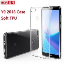 Huawei Y9 2018 Case Huawei Y9 2018 Case Cover Silicone Ultra Thin TPU Funda Mofi Clear Back Clear 5.93 Huawei Y9 2018 Case чехол tfn huawei y9 2018 tpu clear