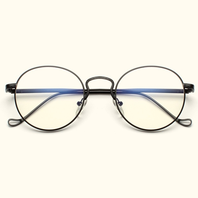 85aa788498 Vazrobe Vintage Round Glasses Men Women Nerd Points Eyeglasses Frames for  Female Man Prescription Spectacles Small