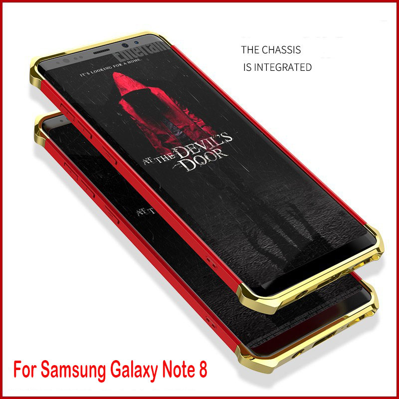 For Samsung Glaxy Note 8 Case, Anti-knock of Electroplating hard PC 3-IN-1 full protection back cover for samsung galaxy note8