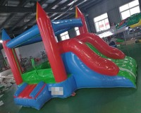 Popular inflatable bouncy castle kids indoor park house bouncy castle with inflatable slide for sale